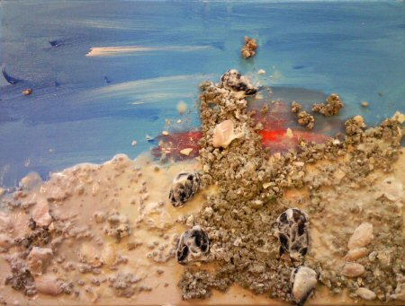 Blind schilderen - Het strand 1