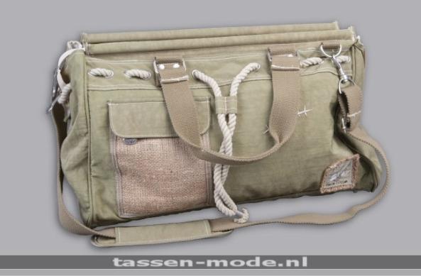 CocoBanjo CB103 kaki tassen double7 tassen-mode.nl tas