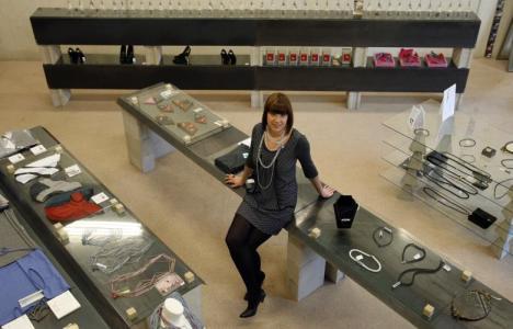 Jannita van den Haak in haar winkel 'Jannissima Temporary Concept Store'