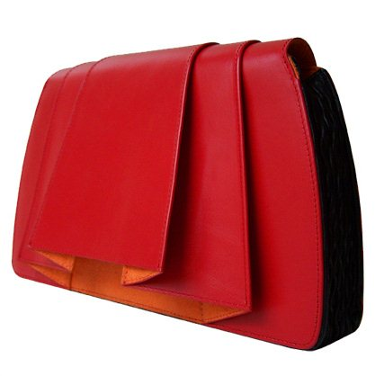 JANSSEN BAGS - Clutch Folded red gesloten - Tassen-mode-nieuws