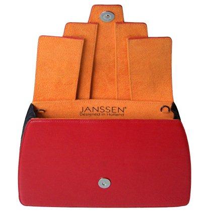 JANSSEN BAGS - Clutch Folded red open - Tassen-mode-nieuws