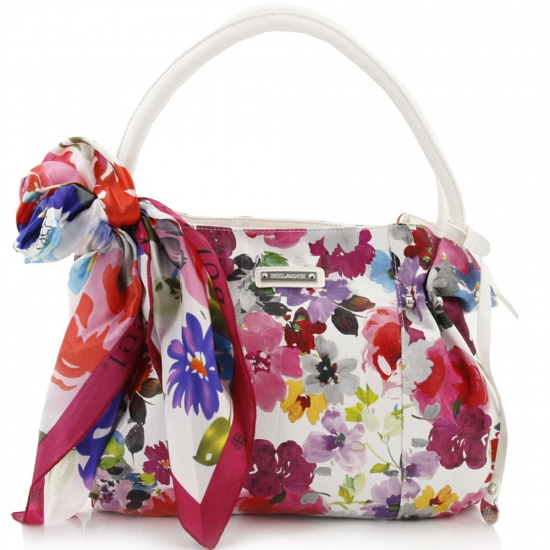 Bulaggi - Feminine Flair - Energy Balance -Satchel Flower wit - Tassen-mode-nieuws