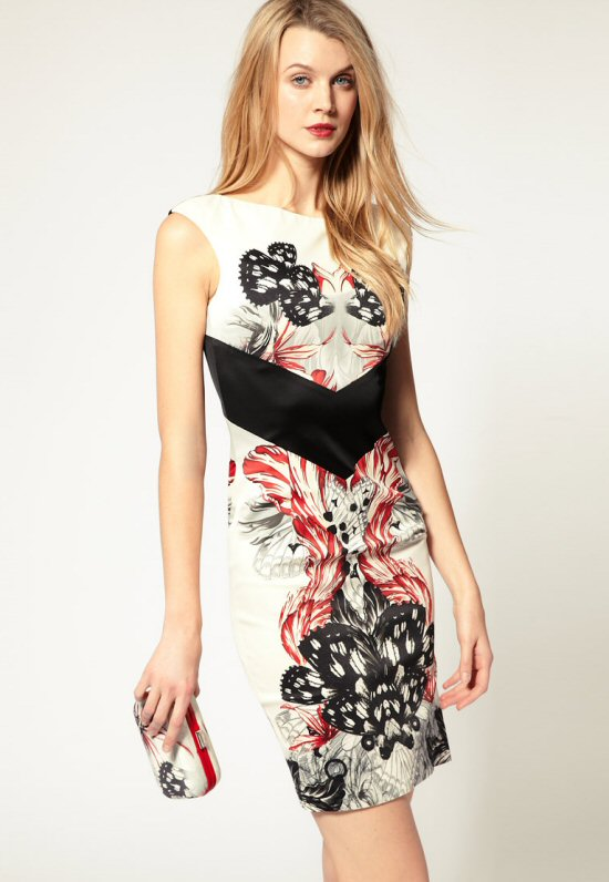 Karen Millen - Butterfly Clutch Bag and Dress - Tassen-mode-nieuws