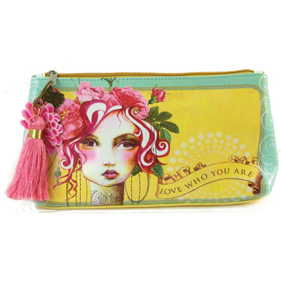 Papaya - Rose--Small Accessory Pouch - Tassen-mode-nieuws