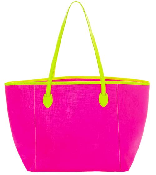 Neon Bag Pink-Yellow - Tassen-mode-nieuws