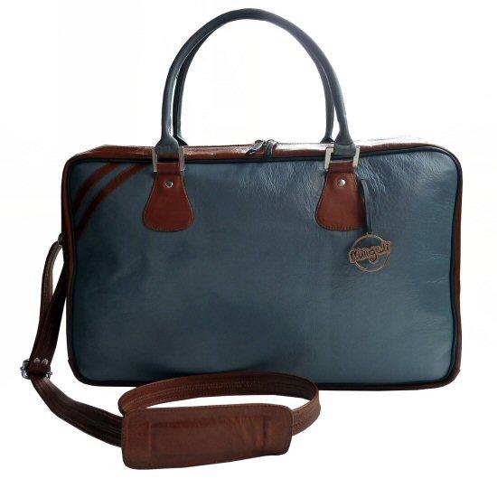 Mingeli Bags - HNW tas grijs en honingbruin - Tassen-mode-nieuws
