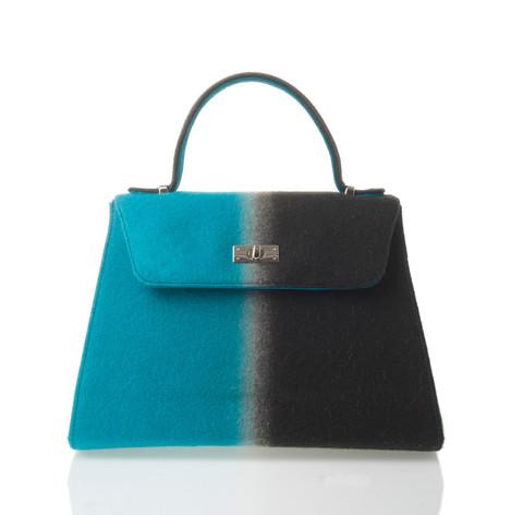 Irene van Vugt - IVV-accessories - Handbag grey-turkoois - Tassen-mode-nieuws